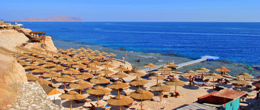 Beach of the Red Sea, Hurghada, Egypt Stock Image