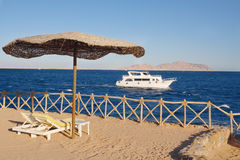 Beach at the Red Sea, Sharm El-Sheikh, Egypt Royalty Free Stock Images