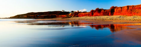 Beach Reflections Royalty Free Stock Photography