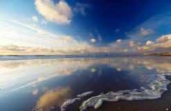 Beach reflections royalty free stock photo