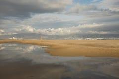 Beach reflections. Royalty Free Stock Photo