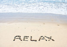 Beach Relax Stock Photography