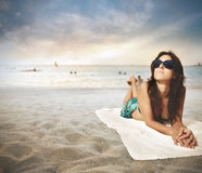 Beach relax Royalty Free Stock Photo