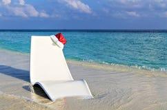 Beach Relax On A Christmas stock photography