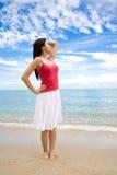 beach relax woman Στοκ Εικόνα