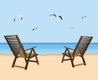 Beach relaxation Stock Photo
