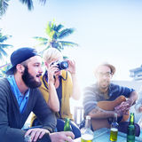 Beach Relaxation Beautiful Vacation Travel Tropical Concept Stock Photo