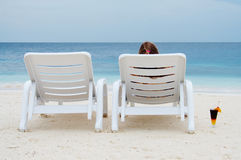 On the beach. Relaxing... Royalty Free Stock Image
