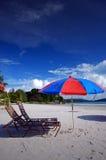 Beach relaxing Stock Image