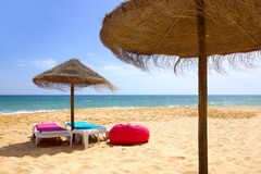 Beach Relaxing Royalty Free Stock Photography