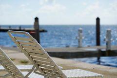 Beach relaxing area at Florida Keys Royalty Free Stock Photography