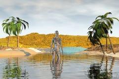 Beach render Royalty Free Stock Image