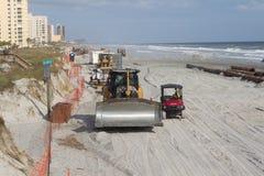 Beach Renourishment Project Stock Photo