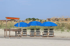 Beach Rentals Ready for Business Royalty Free Stock Photo