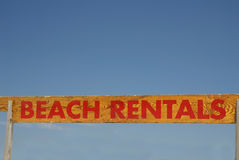 Beach Rentals Sign Royalty Free Stock Photography