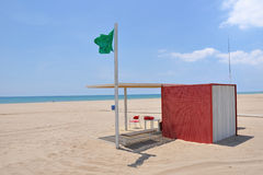 Beach rescue Stock Photography