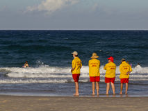 Beach rescue crew on Gold Coast Royalty Free Stock Photo
