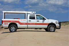 Beach Rescue truck Stock Images