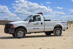 Beach Rescue truck Royalty Free Stock Photo