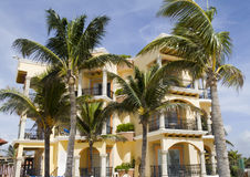 Beach Resort. A view of a hotel resort along the beach Royalty Free Stock Photography