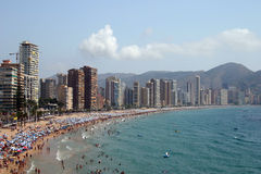 The beach resort. Lavante beach at Benidorm on the Costa Blanca, Southern Spain