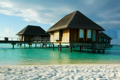 Beach Resort. S in the Maldives royalty free stock photography