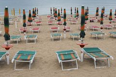Beach Resort in Adriatic Riviera Stock Photo