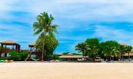 Beach Resort. The blue sky resort Koh payam in ranong province, Thailand Stock Photography