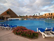 A beach resort in Cancun. Maxico Royalty Free Stock Photography