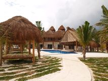 A beach resort in Cancun Stock Photo