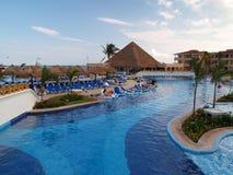 A beach resort in Cancun Stock Image