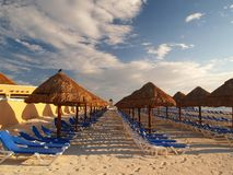A beach resort in Cancun stock images