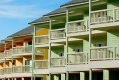 Beach Resort Condos. Rows of colorful beach resort condominium townhomes Royalty Free Stock Photos