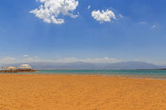 Beach of resort at Dead Sea. Israel Stock Images