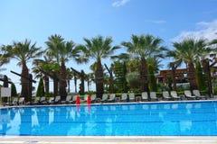 Beach resort hotel swimming pool Stock Photo