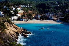 Beach resort on Ibiza island Royalty Free Stock Photos