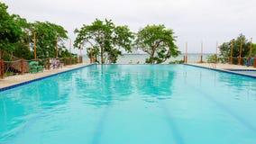 Beach resort with infinity pool Royalty Free Stock Photo