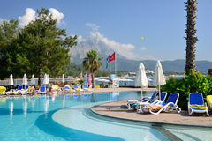 Beach resort near Kemer, Turkey Royalty Free Stock Photos