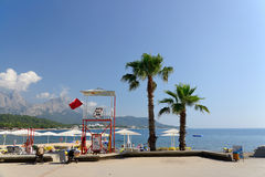 Beach resort near Kemer, Turkey Royalty Free Stock Image