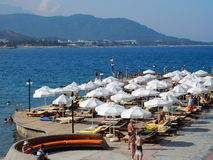 Beach resort near Kemer, Turkey Royalty Free Stock Images