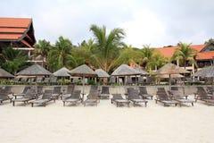 Beach resort scenery Royalty Free Stock Photography