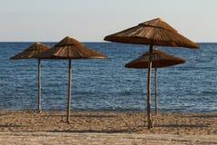 Beach resort at sunset Stock Photos