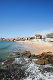 Beach in Resort Town of Cascais in Portugal Royalty Free Stock Images