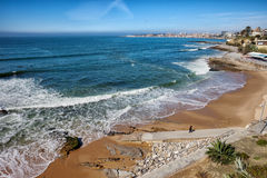Beach in Resort Town of Estoril Stock Images