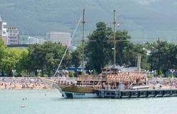 Beach. Resort town in Russia in Gelendzhik Royalty Free Stock Photo