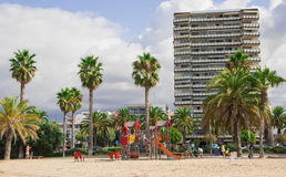 On the beach resort town of Salou Royalty Free Stock Image