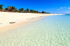 Beach of a resort on a tropical island Royalty Free Stock Photos