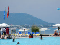 Beach resort in Turkey Royalty Free Stock Photography