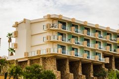 Beach resorts in Cabo San Lucas, Mexico, Baja California.  royalty free stock images