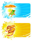 Beach resorts frames Stock Image
